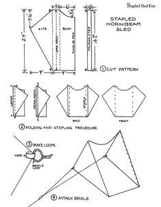 Welcome to Dover Publications Kites for Everyone: How to Make and Fly Them  Stapled  Sled Kite 2