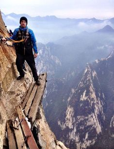 Would you hike Hua Shan mountain in China?