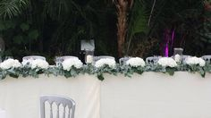 The top table hydrangea and eucalyptus at the palm house