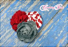 Red Grey Headband M2M Persnickety Maitlyn by CrowningPetals, $14.50