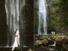 Wedding Photography Hawaii Waterfall Elopement - Like what we want Possible Location - Hanakapiai Falls. Round Trip Hike - Right up our alley! Hawaii Elopement, Hawaii Wedding, Elope Wedding, Dream Wedding, Elopement Wedding, Wedding Couples, Destination Wedding, Hawaii Waterfalls, Couple Photography