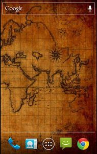 Antique World Map Live Wallpaper