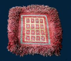 Warp Faced Back Tibetan Pile x Warp-faced back carpet from the Wangden Valley of central Tibet. Wool pile mat with natural dyes and fringe border. Traditionally these were made for . Tibetan Rugs, Ocean Art, Tribal Art, Primitive, Textiles, Wool, Blanket, Himalayan, Dali