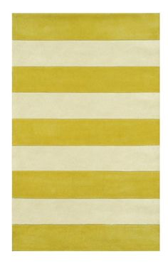 The American Home Rug Company Beach Boardwalk Stripes Yellow Rug