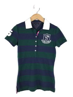 d0bc995fb40 Tommy Hilfiger Womens Navy Stripe Polo Shirt Size XS (UK 8) #fashion  #clothes #shoes #accessories #womensclothing #topsshirts (ebay link)