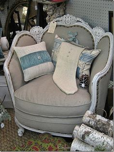 Another refurbished antique chair....