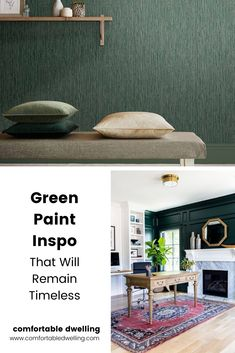 We have scoured all the paint samples we could find to bring you the best green paint color inspiration for your home that will always be in style. Head to the blog post to find out the best green paint color for your home.   best green paint colors benjamin moore   best dark green paint colors   rich moody paint colors   green paint color inspiration   sherwin williams paint colors  benjamin moore paint colors   dulux paint colours   best timeless paint colors   Avoid making paint mistakes Pink Accent Walls, Accent Wall Colors, Accent Walls In Living Room, Green Bathroom Decor, Modern Bathroom Decor, Green Paint Colors, Best Paint Colors, Home Styles Exterior, Dulux Paint