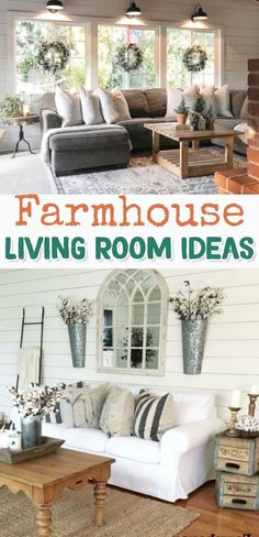 Farmhouse Living room Ideas - GORGEOUS decorating ideas for my living room and all rooms in my home #farmhousedecor #livingroomideas #farmhousestyle #farmhouselivingroom #diyhomedecor #homedecor #homedecorideas #diyroomdecor #diyhomedecor #houseideas #farmhouseliving #farmhouselivingroomideas