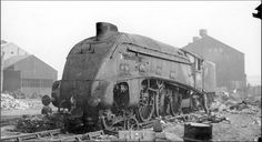The yard cut up this single more were disposed of at Darlington works 60011 and Photo. Steam Trains Uk, Steam Railway, British Rail, Old Trains, Ww2 Aircraft, Steam Engine, Scottish Highlands, Steam Locomotive, Abandoned