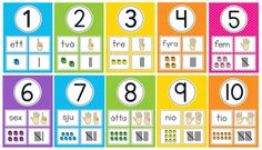 Gratis material Montessori Preschool, Preschool Worksheets, Preschool Classroom, Preschool Activities, Learn Swedish, Swedish Language, Baby Barn, Math Numbers, Reggio Emilia