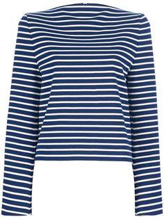 MAISON MARTIN MARGIELA - Stripe top 100% cotton invisible zip back