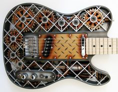 Steampunk 3D printed guitar by Olaf Diegel