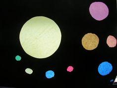 Lichtgevende zon en planeten