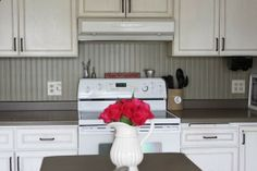 Inexpensive Backsplash Option For Kitchen  Beadboard Wallpaper!