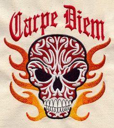 Carpe Diem design (UT1324) from UrbanThreads.com