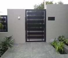 45 Ideas garden door modern entrance for 2019 You are in the right place about entrance garden Here we offer you the most beautiful pictures about the entrance ideas you are looking for. Steel Gate Design, Front Gate Design, House Gate Design, Door Gate Design, Gate House, Home Gate, Gate Designs Modern, Modern Fence Design, Modern House Design