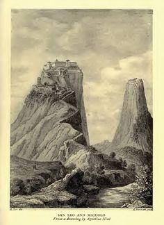 illustration of san-leo-e-maiolo