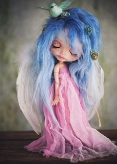Doll Gwennie, so lovely with the dove in her hair.