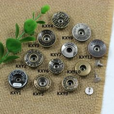 Click Our Letters Rivets Gallery to See More Style and Color . Jeans Button, Make Color, Shake, Giant Tree, Buttons, Denim, Smoothie, Jeans, Plugs