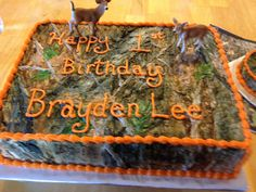 One of my camo cakes for a first birthday~