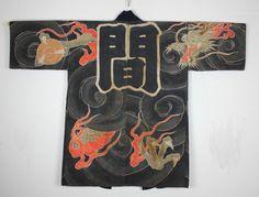 Japan - Fireman's Jacket with dragon motif, Edo period