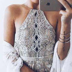 Love the details on @emilyrosehannon !  Shop Embrodiery Dress : LETSSHOPPO.COM
