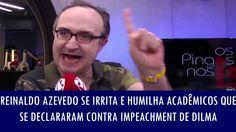 Reinaldo Azevedo se irrita e humilha acadêmicos que se declararam contra...