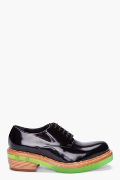 SIMONE ROCHA Black Patent Oxford Shoes