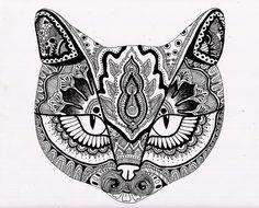 henna cat face | Flickr - Photo Sharing!