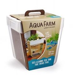 Betta Fish Tank Aquafarm Water Garden Self Cleaning Home Grow Food Plant Eco New | eBay