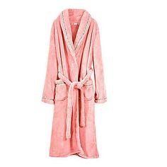 Bath Robe,High-class Woman Pink Solid Colour Garment Thicken – USD $ 39.99