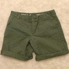 GAP Boyfriend Shorts GAP boyfriend shorts in army green. Size 8. No rips/holes/stains. A little fading from normal wash and wear. GAP Shorts Bermudas