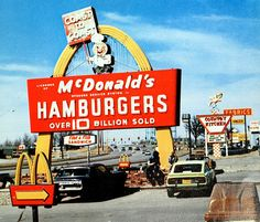 McDonald's sign, missing a golden arch