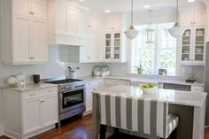 white islands with seating - Google Search