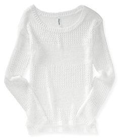 Sheer Ribbon Yarn Sweater from Aeropostale