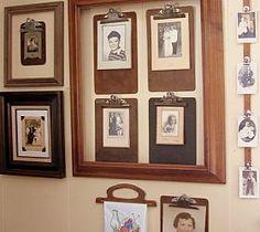 A Clipboard Gallery Wall-Photo Frames