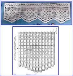 Gardine Filet häkeln ... crochet - cortinas - curtains Maritim - Marina - Sea…