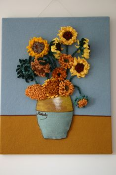 Ravelry: AncientOrModern's Vincent Tribute (flowers for the home!)