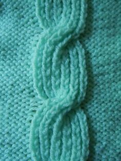 Closed Bud Cable Pattern.  This and many others at craftelf.com