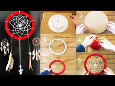 DIY Tutorial - How to Crochet Mandala Dreamcatcher - Sun Dream Catcher Hula Hoop Yarn Bombing - YouTube