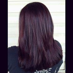 Dark violet hair