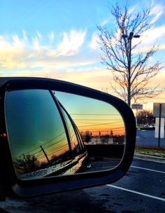 Sunset by mirror