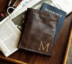 Saddle Leather Passport Holder #potterybarn
