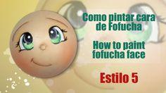 Como pintar cara fofucha 5 - How to paint fofucha face 5