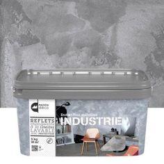 Peinture mur couleurs int rieures luxens blanc lin n 2 satin 2 5l living - Maison deco industrie ...