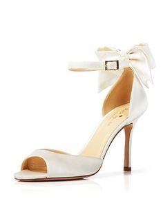 kate spade new york Open Toe Evening Sandals - Izzie Bow Back High Heel | Bloomingdale's
