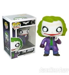 The Joker - The Dark Knight - Funko Pop! Vinyl Figure http://popvinyl.net #popvinyl #funko #funkopop