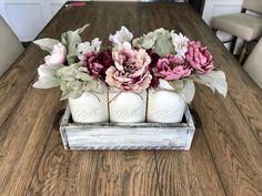 Mason jar centerpiece – Stacy Turner Creations