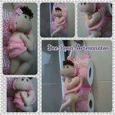 Dee Rosa Artesanatos!: Molde: boneca porta-papel higiênico para parede