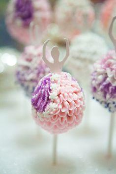 4 Ballerina Cake Pops 3s